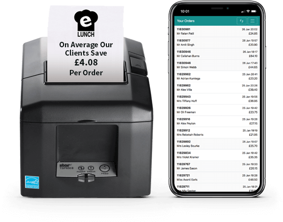 eLunch Printer And eLunch Progressive Web App